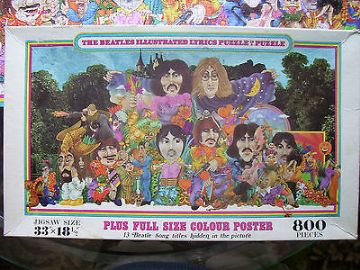 The Beatles Illustrated Lyrics 800 Piece Jigsaw Puzzle 1970